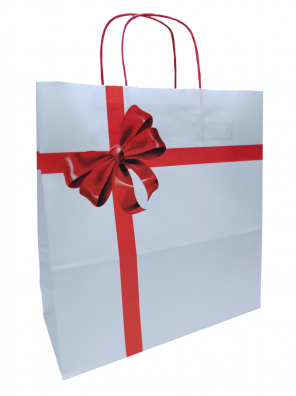 papírová taška dárková, kroucené ucho