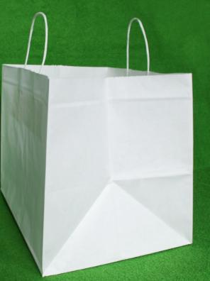 Papírová menubox bílé kroucené ucho