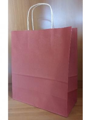 Papírová taška bordo hnědé kroucené ucho