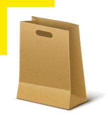Papírová taška s průhmatem