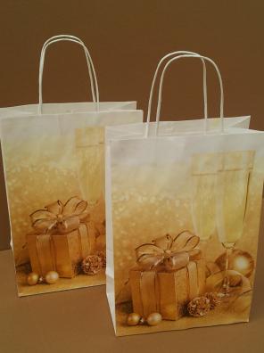 Papírová taška vánoční